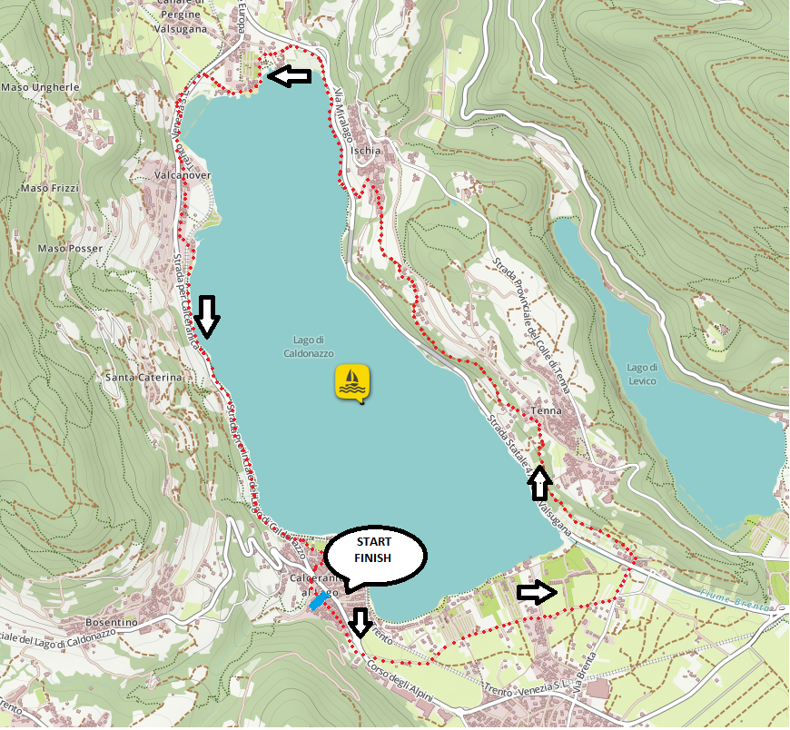2° Caldonazzo Lake Running